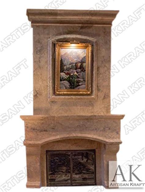 houston travertine overmantel fireplace artisan kraft