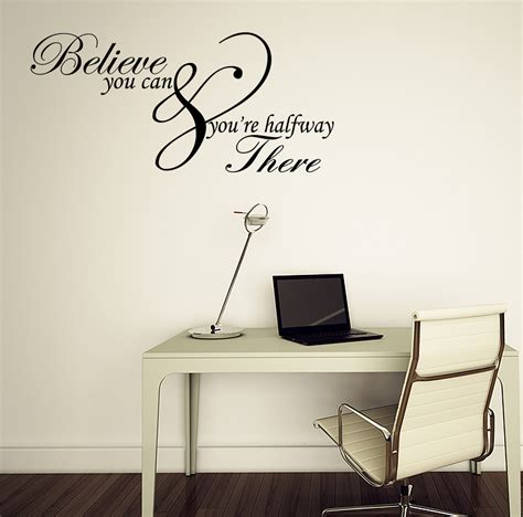 wall vinyls home decor believe you can inspirational quote vinyl wall art sticker