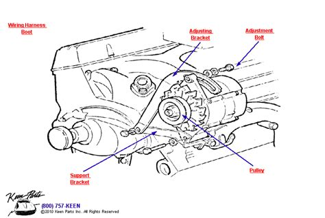 1968 Corvette Small Block Alternator Parts Parts