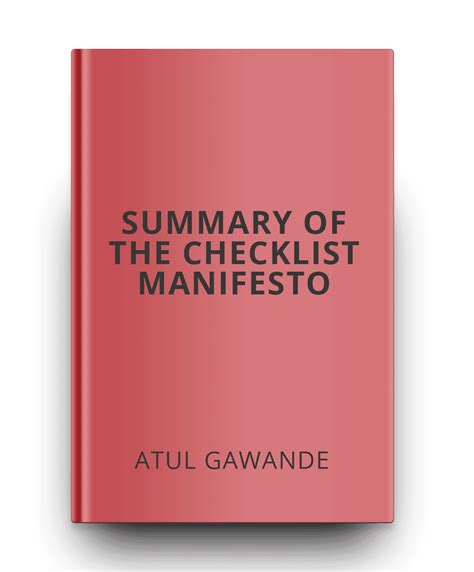 summary the checklist manifesto by atul gawande how to get things right the checklist manifesto how to get things right book paperback hardcover audiobook audible summary book 1 books 100 must read books that can change your world outlook
