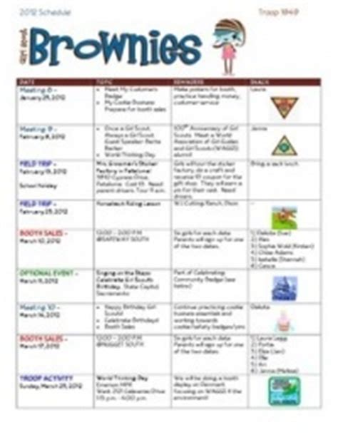 17 Best Images About Brownie Crafts Activities On Pinterest Map Compass Girl Scout Law And Scout Planning Calendar Template