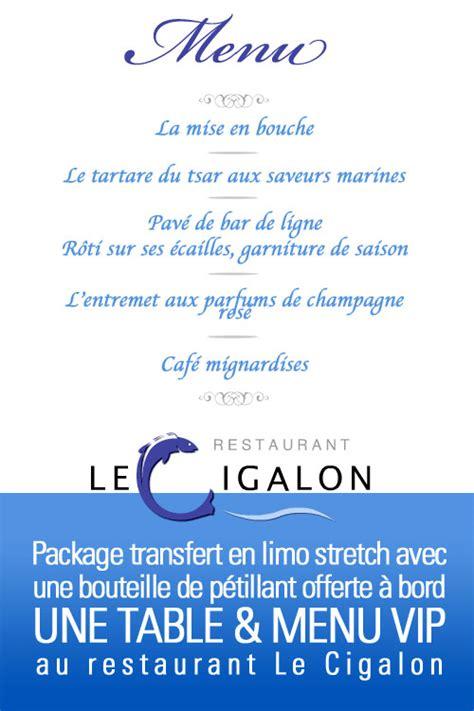 Limousine Reservation by Package Le Cigalon Th 244 Nex En Limousine R 233 Servation Table