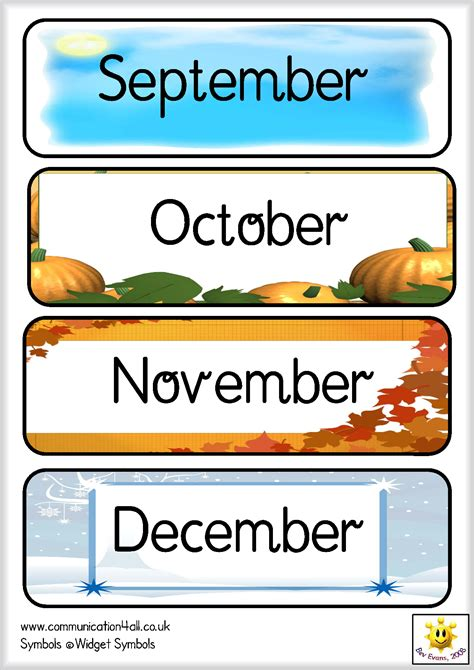 printable months poster the gallery for gt months of the year poster printables