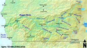 rogue river oregon map oregon river map