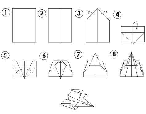 How To Make Different Types Of Paper Airplanes - paper airplane procedure airplane