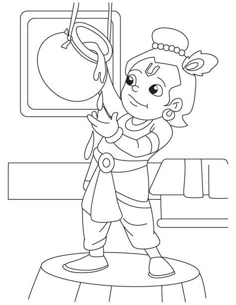 Outline Pictures Of God Krishna by Krishna The Butter Thief Coloring Pages Free Krishna The Butter