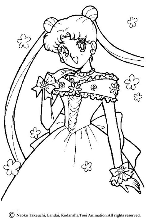 Princess Serenity Coloring Pages Hellokids Com Sailor Moon Princess Serenity Coloring Pages Free Coloring Sheets