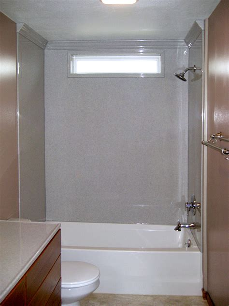 Bathtub Surround With Window by Bathroom Tub Reglazing Shower Inserts Resurface Surrounds