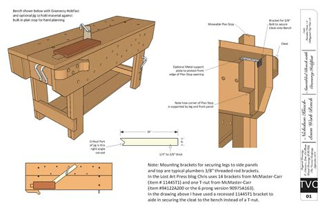 woodworking bench drawings plans diy