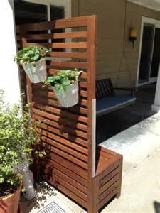 Adjustable Railing Planters by Applaro Free Standing Bench And Trellis Hack Ikea