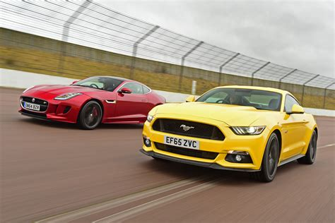 ford mustang vs jaguar f type r auto express