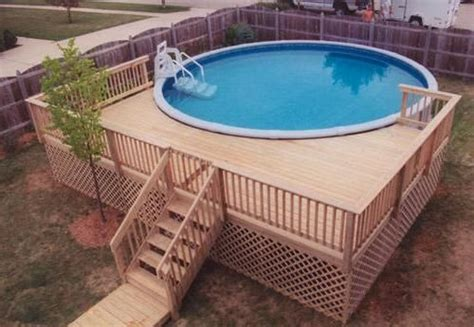 small above ground pools for small backyards small round above ground composite pool deck for small backyard small above ground