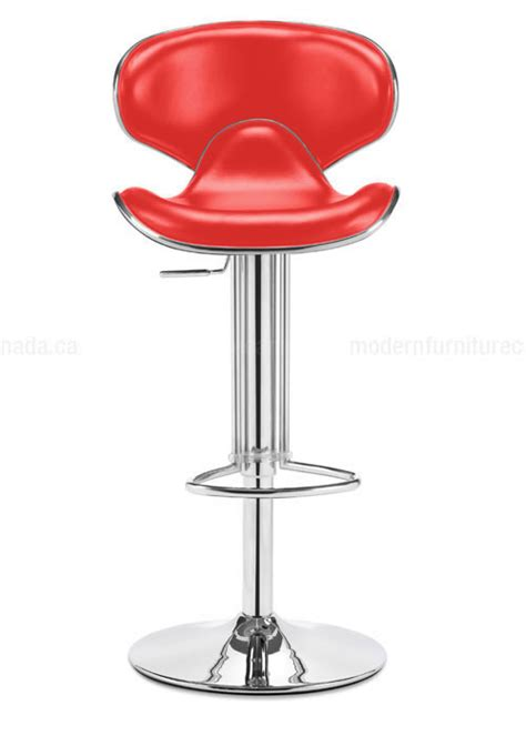 fly bar stool zuo modern fly adjustable height bar stool red 300132 modern furniture canada