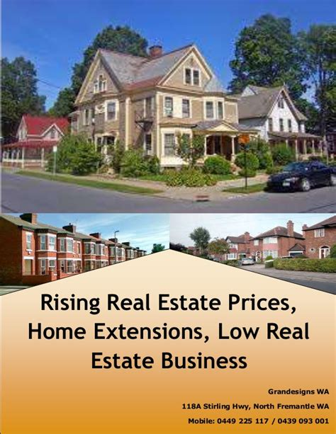 rising real estate prices home extensions low real