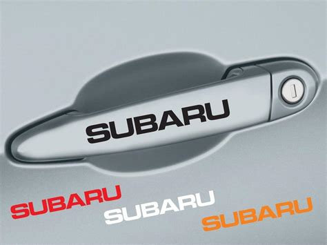 subaru outback decals product 4 pcs subaru handle door decal sticker emblem