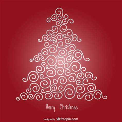 tarjeta de feliz navidad roja con 225 rbol minimalista