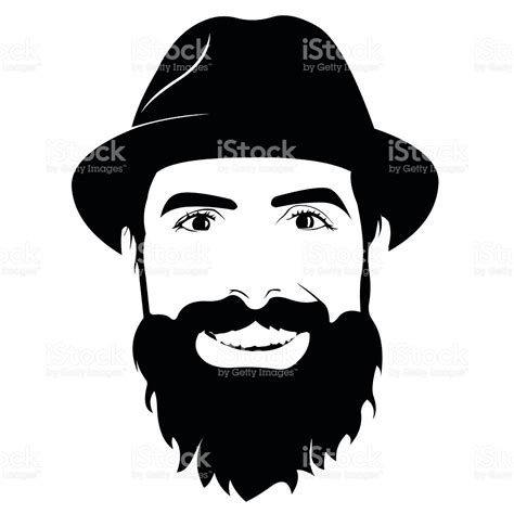 young man head clip art pics for gt bearded man head silhouette