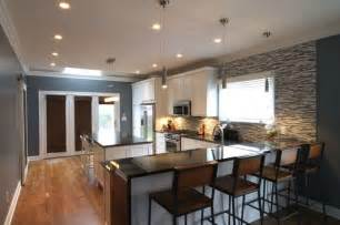 kitchen with island and peninsula island kitchen with peninsula bar contemporary kitchen indianapolis by wrightworks llc