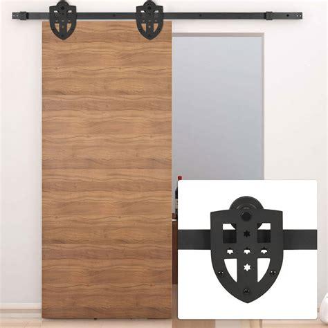 Interior Barn Door Hardware Kit New 6ft Sliding Slide Barn Door Hardware Only Kit Interior Modern Cross Style Ebay