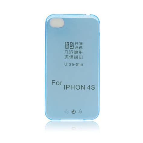 Silicon Ultrathin Ultra Thin Iphone 4 Iphone4 4s 4g hitech store iphone 4 4s silicone ultra slim 0 3mm blue