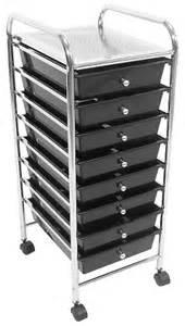 trolley black 8 drawer salon furniture equipment utility