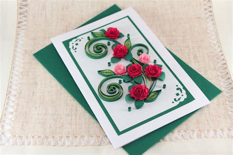 Greeting Cards Handmade Paper - birthday card handmade quilling greeting card bday