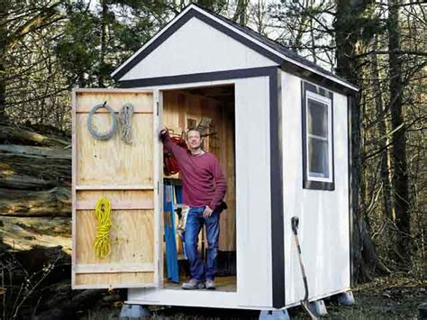 build a simple shed popular mechanics
