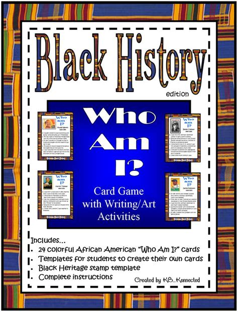 black history templates black history quot who am i quot card 24 cards attractive