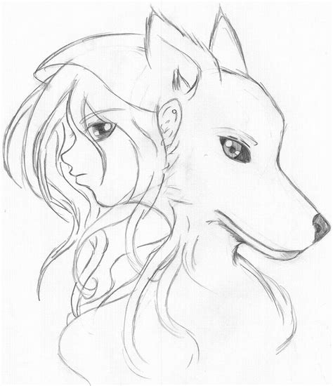anime wolf drawings easy viewing gallery for simple wolf drawings in pencil