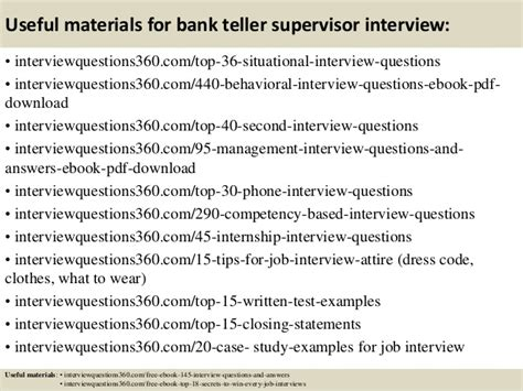 top 10 bank teller supervisor questions and answers