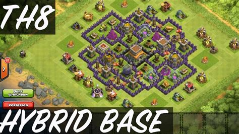 hd town hall 7 clash of clans epic town hall 8 hybrid base speed
