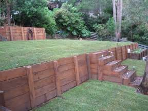 How To Make A Sloped Backyard Flat Retaining Walls On Behance