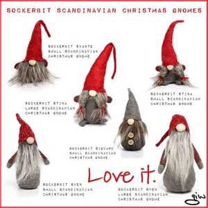 Home Interior Christmas Decorations Quot Sockerbit Scandinavian Christmas Gnomes Quot By Ian Giw On