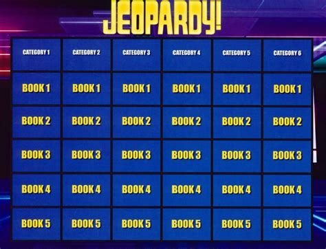 jeopardy printable template jeopardy templates