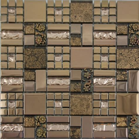 glass mosaic tiles tile bathroom wall