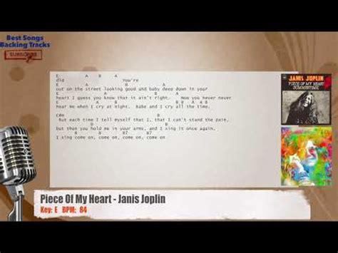 piece   heart janis joplin vocal backing track  chords  lyrics youtube