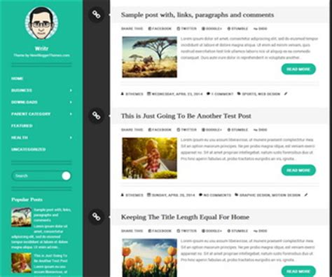 Writr Blogger Template Newbloggerthemes Com Free Website Templates With Sidebar Menu