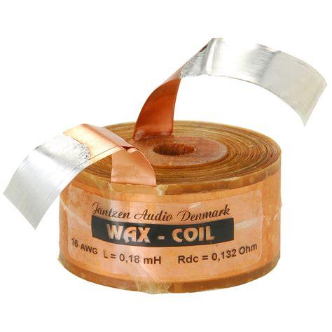 jantzen wax inductor jantzen audio 0 18mh 16 awg copper foil wax coil crossover coil