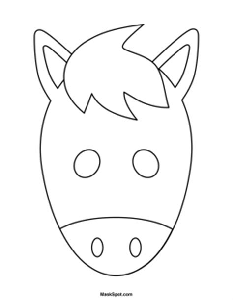 printable horse mask template printable horse mask