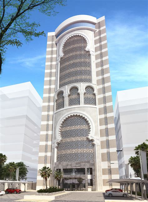 islamic pattern building office building islamic design jeddah ksa on behance