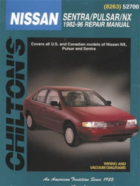 service and repair manuals 1993 nissan nx electronic toll collection chilton nissan sentra pulsar nx 1982 1996 repair manual