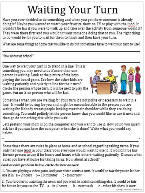 Social Skill Worksheets by Empowered By Them Social Skills Packet