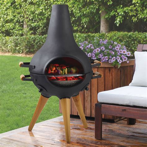 Chiminea With Grill by Aniva Cosa Bbq Transforming Chiminea Grill Pit