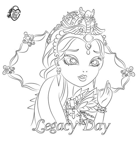 coloring pages raven queen 75 best ever after high coloring pages images on pinterest
