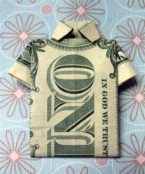 Shirt Money Origami - origami money shirts s day