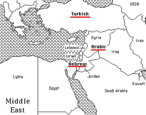 middle east map in 2020 middle east