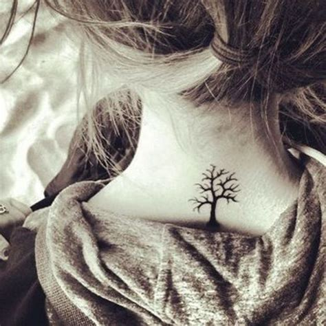 small girly neck tattoos collection of 25 small feminine tree on back neck