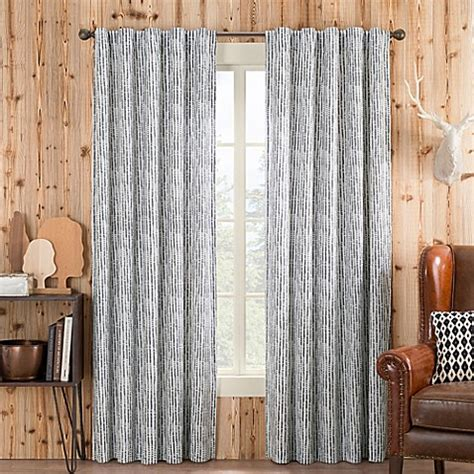 95 inch curtain rod buy boulder 95 inch rod pocket back tab window curtain