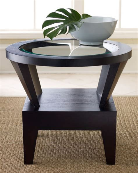 contemporary accent table capri round glass end table contemporary side tables and end tables by abbyson living