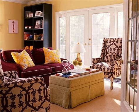 yellow and burgundy living room discover and save creative ideas